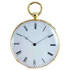 Gorini & Cie. 18 Karat Yellow Gold Keywind Pocket Watch, circa 1840s