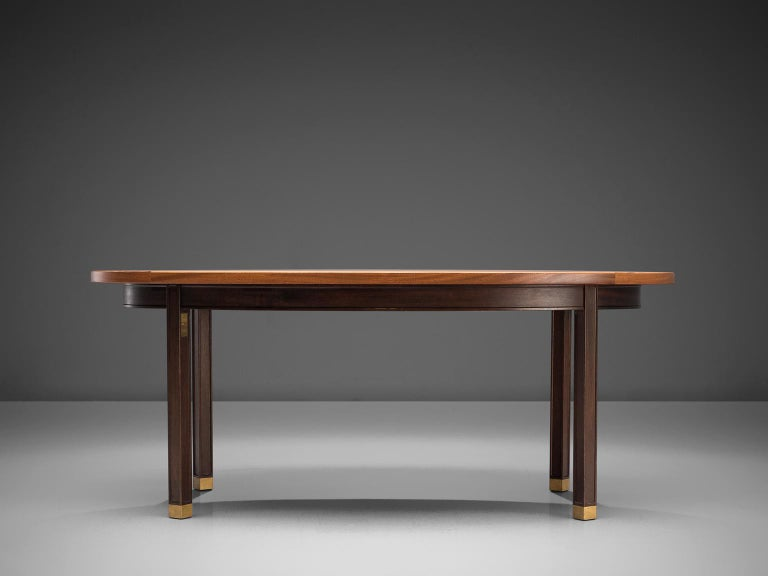 Scandinavian Modern Gorm Lindum Architectural Oval Table For Sale