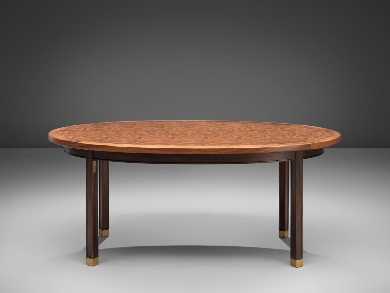 Danish Gorm Lindum Architectural Oval Table For Sale