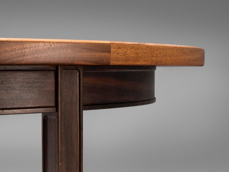 Late 20th Century Gorm Lindum Architectural Oval Table For Sale