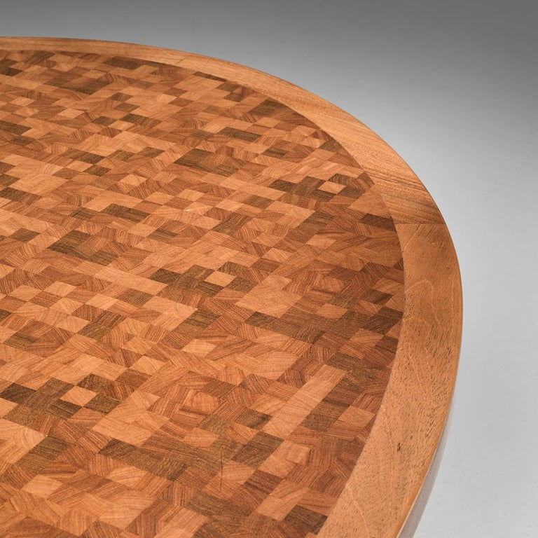 Brass Gorm Lindum Architectural Oval Table For Sale
