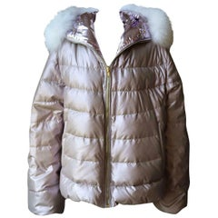 Gorski Reversible Fox Fur Trimmed Quilted Down Jacket
