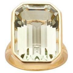 Goshwara 18k Gold Prasiolite Ring