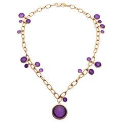 Goshwara Amethyst Charm Necklace