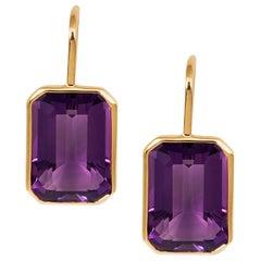 Goshwara Amethyst Emerald Cut Earrings