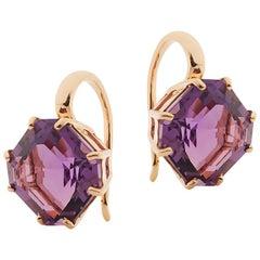 Goshwara Amethyst Square Emerald Cut Earrings