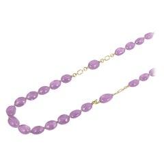 Goshwara Amethyst Tumbled Bead Necklace