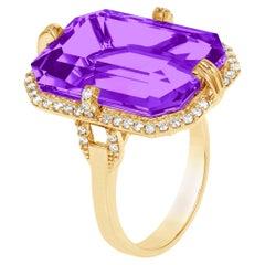 Goshwara Amethyst with Diamonds Ring