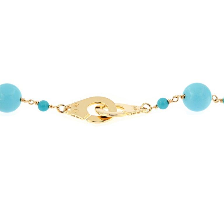 "Women's Goshwara ""Beyond"" Natural Sleeping Beauty Turquoise Beaded Chain Necklace"