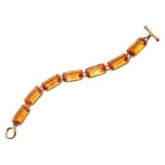 Goshwara Citrine Cushion and Diamond Bracelet