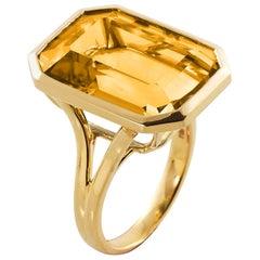 Goshwara Emerald Cut Citrine Ring