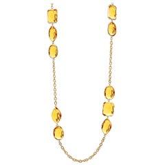 Goshwara Citrine Multi-Shape Station Necklace