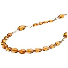 Goshwara Citrine Tumbled Bead Necklace