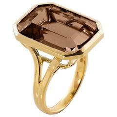 Goshwara Emerald Cut Cognac  Ring