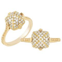 Goshwara Diamond Sugarloaf Pave Ring