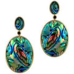 Goshwara Double Oval Abalone Earrings