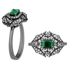 Goshwara Emerald and Diamonds Web Ring