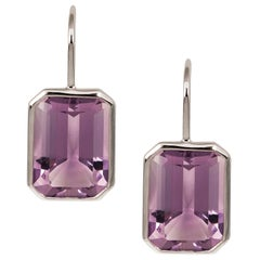 Goshwara Lavender Amethyst Emerald Cut Earrings