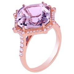 Goshwara Lavender Amethyst Octagon and Diamond Ring