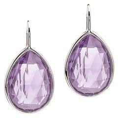 Goshwara Lavender Amethyst Pear Shape on a Wire Earring