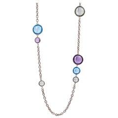Goshwara Multi-Color Disc Station Necklace