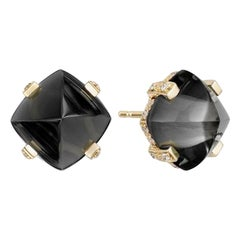 Goshwara Onyx and Diamond Earrings