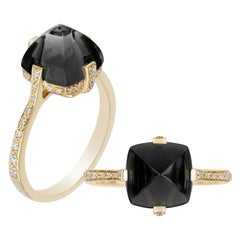Goshwara Onyx and Diamond Ring