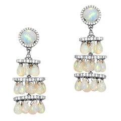 Goshwara Opal Chandelier with Diamonds Earrings
