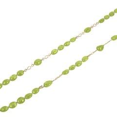 Goshwara Peridot Tumbled Bead Necklace