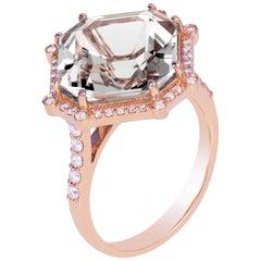 Goshwara Rock Crystal Octagon and Diamond Ring