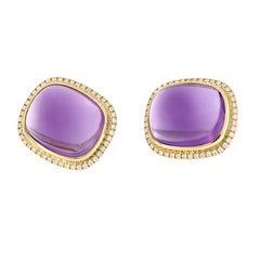 Goshwara 'Rock 'N Roll' Amethyst Gold Diamond Earrings