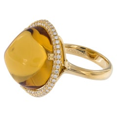 Goshwara Rock N Roll Gold Citrine and Diamond Ring