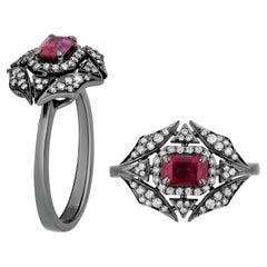 Goshwara Ruby and Diamond Web Ring