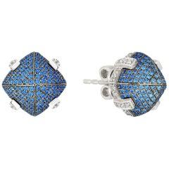 Goshwara Sapphire and Diamond Earrings