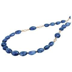 Goshwara Tanzanite Tumbled Bead Necklace
