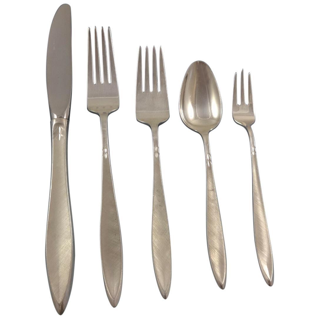 Gossamer by Gorham Sterling Silver Flatware Service for 8 Set 44 Pieces Modern