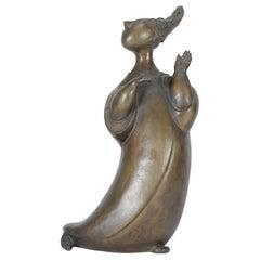 'Gossip Girl' Bronze Sculpture by Bjørn Wiinblad