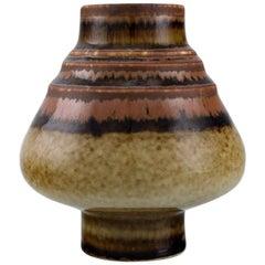 Gösta Andersson for Rörstrand, Vase in Glazed Ceramics, Mid-20th Century