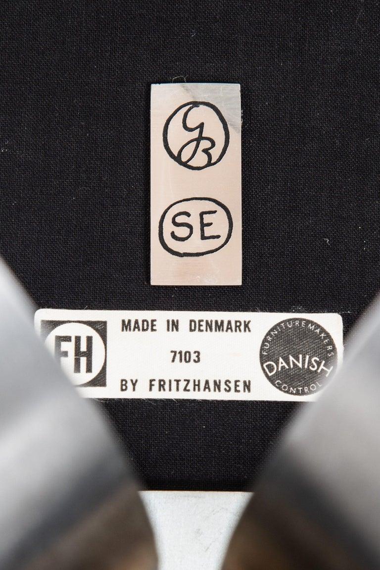 Gösta Berg Easy Chair with Stool Model Måsen / Seagull by Fritz Hansen For Sale 2