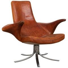 Gosta Berg & Stenerik Eriksson 'Seagull' Swivel Chair for Fritz Hansen