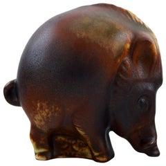 Gösta Grähs for Rörstrand, Young Wild Boar, Ceramics