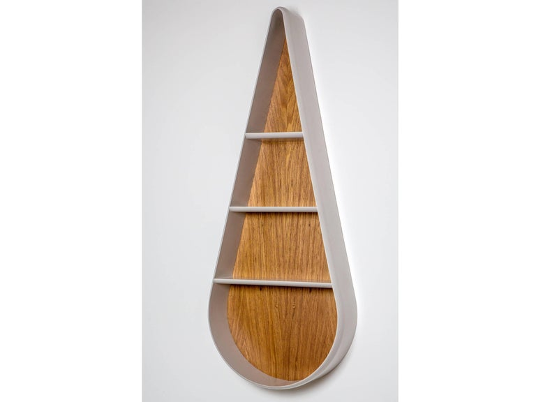 Gota Brazilian Contemporary Wood and Lacquered Bookcase by Lattoog For Sale 1