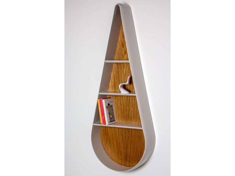 Gota Brazilian Contemporary Wood and Lacquered Bookcase by Lattoog For Sale 2
