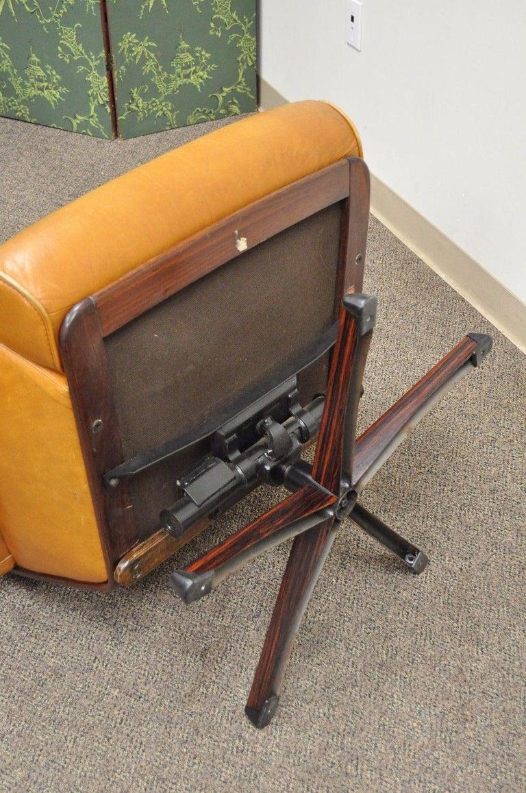 Gote Mobler Nassjo Mid Century Modern Caramel Leather