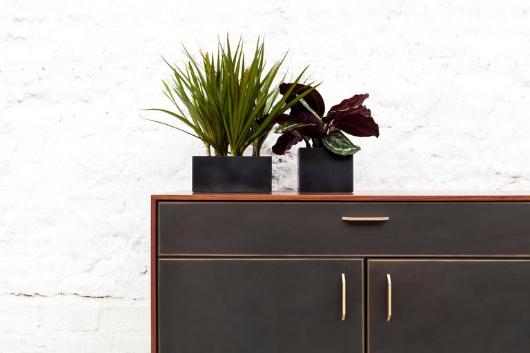 Modern Gotham Credenza, Customizable Wood, Metal and Resin For Sale