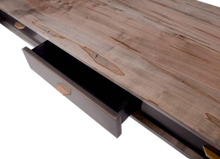 American Gotham Desk Customizable Wood, Metal and Resin For Sale