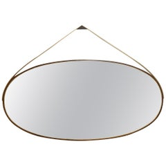 Gotham Oval Mirror Large, Customizable Wood and Metal