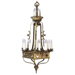 Gothic 20-Candle Tiered Chandelier
