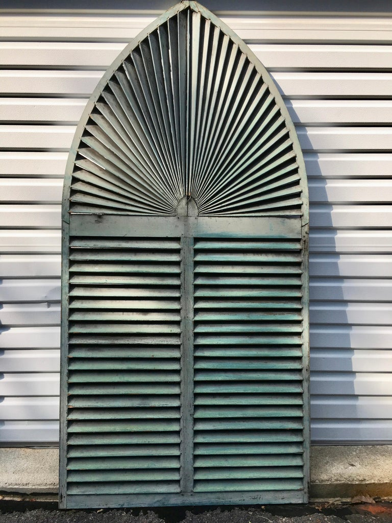 Victorian Gothic Arch Window Shutter For Sale