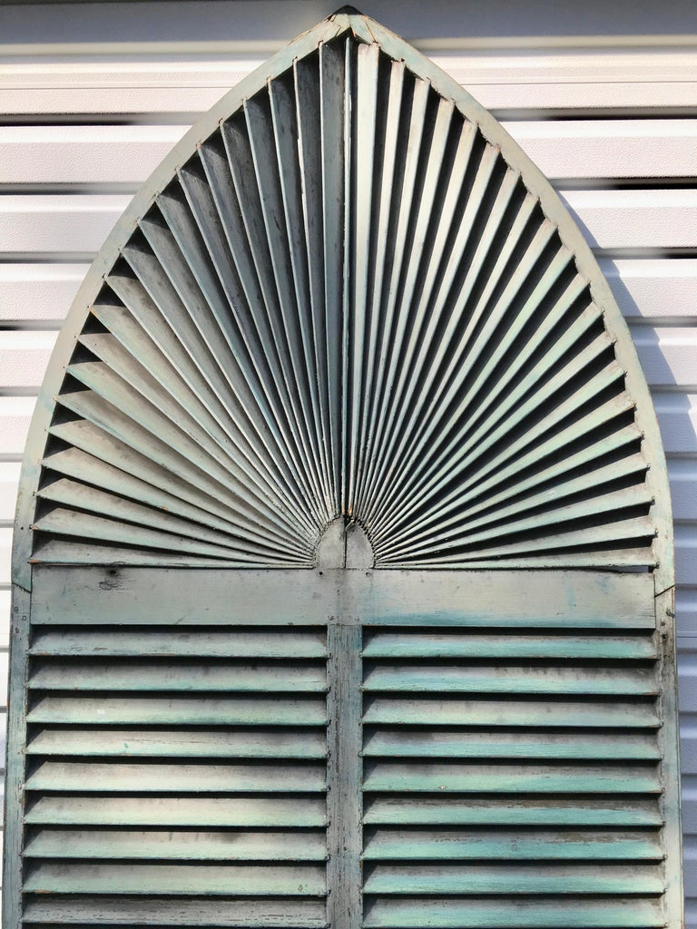 American Gothic Arch Window Shutter For Sale